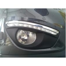 Штатные дневные ходовые огни DRL LED-DRL для Hyundai Santa Fe 2010-12