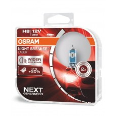 Галогенная лампа Osram Night Breaker Laser H8 +150% 12V 35W 64212NL-HCB-DUO (2 шт.)