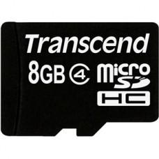 Карта памяти 8Gb microSDHC, Transcend, Class4 (TS8GUSDHC4)