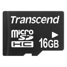 Карта памяти 16Gb microSDHC, Transcend, Class10