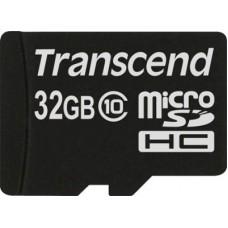 Карта памяти 32Gb microSDHC, Transcend, Class10