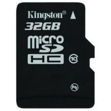 Карта памяти 32Gb microSDHC, Kingston, Class10
