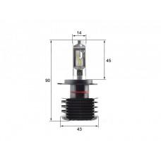 Светодиодная LED би лампа Sho-Me G6.1 H4 (ближний-дальний) (комплект 2шт)