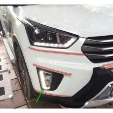 Штатные дневные ходовые огни DRL LED-DRL для Hyundai Creta V3 (ДХО + ПТФ)