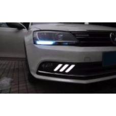 Штатные дневные ходовые огни DRL LED-DRL для VW Jetta 2016+