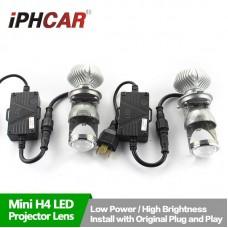 Светодиодная автолампа LED проектор с линзой iPHCAR G6 LED H4 Hi/Low 6000 LM 2шт