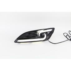 Штатные дневные ходовые огни DRL LED-DRL для Ford Fiesta 13+ V2
