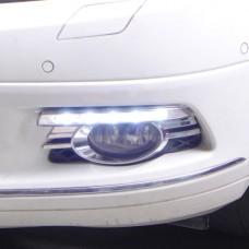 Штатные дневные ходовые огни DRL LED-DRL для Mercedes С W204 07-11 chrome V2