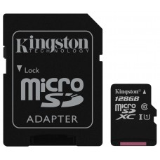 Карта памяти 128Gb microSDXC, Kingston, Class10 Ultra 1