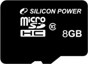 Карта памяти 8Gb microSDHC, Silicon Power, Class10