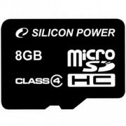 Карта памяти 8Gb microSDHC, Silicon Power, Class4