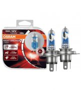 Галогенная лампа Osram H4 NIGHT BREAKER LASER +130% 55W 64193NBL-HCB DUO (2шт.)