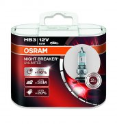 Галогенная лампа Osram HВ3 NIGHT BREAKER UNLIMITED +110% 12V 9005NBU-HCB DUO (2шт.)